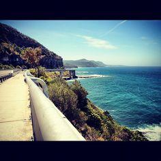 Looking north along the coastline. Sea Cliff Bridge, Mother Nature, Explore, Beach, Water, Outdoor, Gripe Water, Outdoors, Seaside
