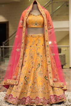 Purchase / Enquiry WhatsApp us : Lehenga Choli Wedding, Indian Bridal Lehenga, Party Wear Lehenga, Lengha Choli, Raw Silk Lehenga, Yellow Lehenga, Lehenga Skirt, Lehenga Style, Lehnga Dress