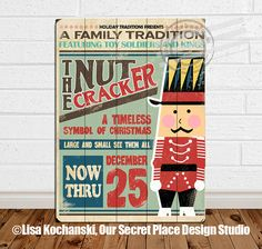 Nutcracker Decor Nutcracker Sign Distressed Wood by OurSecretPlace