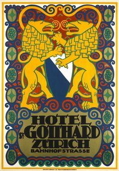 Hôtel Saint-Gotthard Zürich 1915