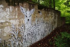 The Hidden Fawn by Bonus Saves, via Flickr. Clever funny wonderful art here: http://www.bonussaves.com/