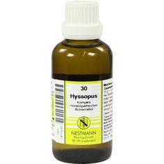 HYSSOPUS KOMPLEX Nr.30 Dilution:   Packungsinhalt: 50 ml Dilution PZN: 01910230 Hersteller: NESTMANN Pharma GmbH Preis: 7,19 EUR inkl. 19…
