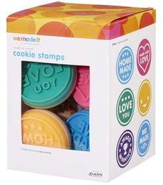 We Made It By Jennifer Garner™ 6Pc Silicone Cookie Stamps- Sweet