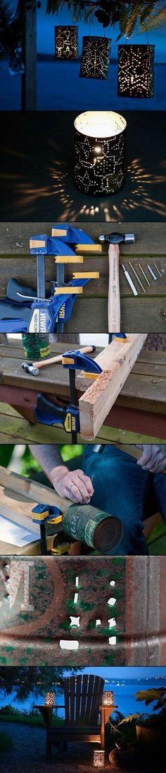 DIY PROJECTCOFFEE CAN LANTERNS