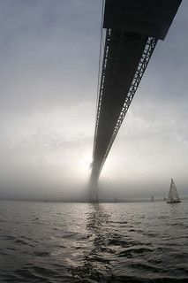 Newport Pell Bridge. Narragansett Bay. Very cool picture of the bridge.