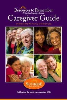 Memory Loss Caregiver Guide PDF | Sunrise Senior Living #alzheimers #tgen www.mindcrowd.org