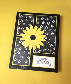 Handmade birthday card ideas with tips and instructions to make Birthday cards yourself. If you enjoy making cards and collecting card making tips, then you'll love these DIY birthday cards! Homemade Birthday Cards, Homemade Greeting Cards, Greeting Cards Handmade, Homemade Cards, Bday Cards, Happy Birthday Cards, Pretty Cards, Cute Cards, Stampin Up