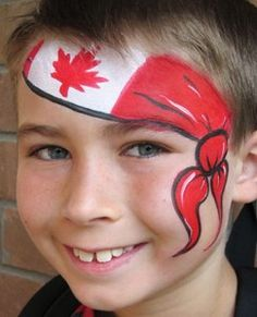 10 Top Face Painting Services In Toronto Face Painting For Boys, Face Painting Designs, Body Painting, Kids Makeup, Day Makeup, Dominion Day, Canada Day Crafts, Canada Day Party, Homemade Face Paints