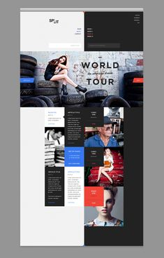 Web design with a split personality.