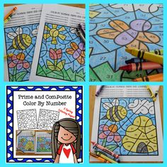 What better way to reinforce the concept of Prime and Composite numbers then to color a beautiful spring picture! 4th Grade Classroom, 5th Grade Math, Classroom Activities, Fourth Grade, Prime And Composite Numbers, Math 5, Math Task Cards, Math Intervention, Spring Pictures