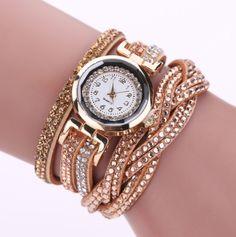 Luxury Quartz Rhinestone Bracelet Watch