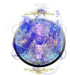 Astrology, Zodiac, Art, Spiritual, Ilustration, Signs, Horoscope, Mandala, mandalas, healing, Planets, Pisces, Neptune