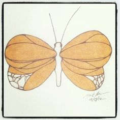100 Butterflies in 100 Days, Day 15, Medium: Color ,Pencil