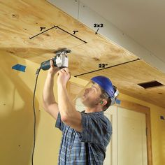 Add drama and beauty with this easy-to-build soffit lighting system and well-placed lighting. This is the ultimate improvement for ordinary ceilings. Plank Ceiling, Wood Ceilings, Lighting System, Home Lighting, Soffit Ideas, Installing Recessed Lighting, Three Way Switch, Diy Wood Wall, Basement Makeover