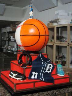Basketball & Baseball #cake