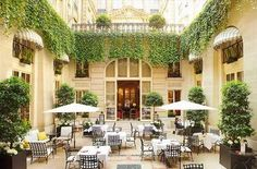 Courtyard at Le Bristol Hotel, Paris