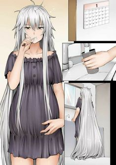 Yandere Manga, Chica Anime Manga, Beautiful Anime Girl, Anime Love, Kawaii Anime Girl, Anime Art Girl, Fanarts Anime, Anime Characters, Anime Pregnant