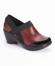Look at this Jambu Burgundy Cali-Too Leather Clog on #zulily today!