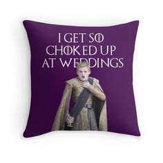 I get so choked up at weddings. (purple wedding) Game of thrones