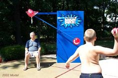 Modified Dunk Tank - our kids will LOVE this!!                                                                                                                                                     More