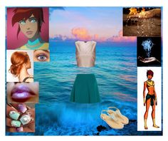 """""""Young Justice Inspired """"Aquagirl"""""""" by mundca ❤ liked on Polyvore featuring Miss Selfridge and Miu Miu"""