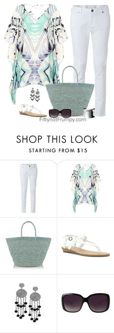 """""""Sunny Day"""" by fiftynotfrumpy ❤ liked on Polyvore featuring White Stuff, Feather & Stone, Sensi Studio, Blowfish, Karen Kane, Merona and Nordstrom"""