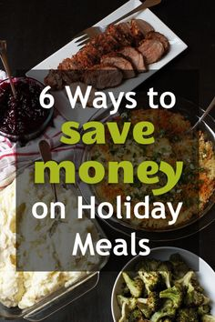 6 Ways to Save Money on Holiday Meals 6 Ways to Save Money on Holiday Meals - Good Cheap Eats - Don't go over budget this year! The holidays can be festive as well as frugal. Consider these savvy tips to help you save money on holiday meals. Budget Freezer Meals, Frugal Meals, Budget Recipes, Planning Budget, Meal Planning, Holiday Recipes, Holiday Meals, Christmas Recipes, Money Saving Meals