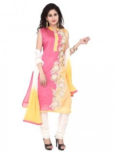 Eye-catching outfit will add a regal touch to your personality.  Item Code: SLTY1203P http://www.bharatplaza.com/new-arrivals/salwar-kameez.html