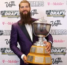 Defenseman Brent Burns became the first active member of the Sharks to win the prestigious Norris Trophy award at the 2017 NHL Awards in Las Vegas. Brent Burns, Nhl Awards, Light Em Up, Expansion, Stanley Cup Finals, Horror Movie Characters, San Jose Sharks, Hockey, Vegas