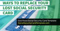 17 Social Security Card Ideas Social Security Card Card Template Id Card Template