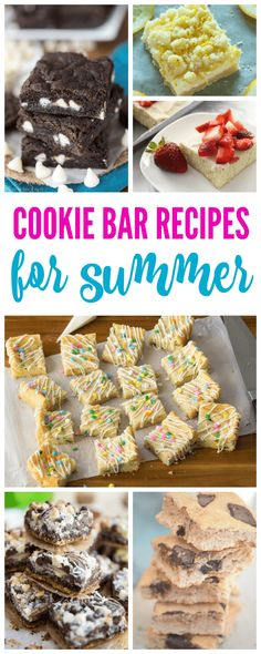 25 of the Best Cookie Bar Recipes for Summer! Easy and Crowd Favorite Recipes for Cookouts and Birthday Parties!
