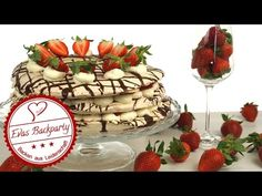 Erdbeer-Pavlova-Torte - die leichte und süße Versuchung für den Sommer / Backen Evas Backparty - YouTube