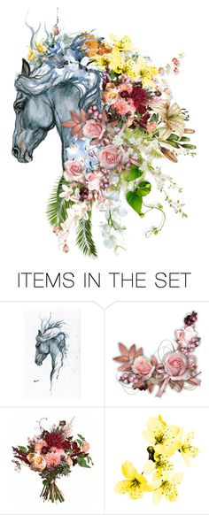 """""""Flower Arrangement"""" by leegal57 ❤ liked on Polyvore featuring art"""