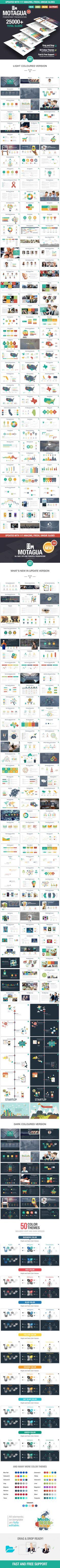Motagua - Multipurpose PowerPoint Template PowerPoint Template / Theme / Presentation / Slides / Background / Power Point #powerpoint #template #theme