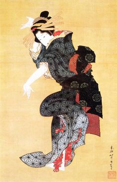 danathur: Katsushika Hokusai. Bailando. Siglo XIX