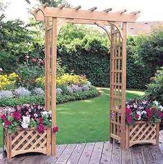 Rosedale Style Garden Arbor  http://simplylovegardening.com/item_159/Rosedale-Style-Garden-Arbor.htm