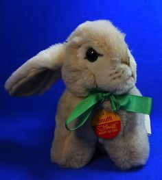 Original Modern Stuffed Animal Steiff Toy Rabbit Snuffi with Button #^D46