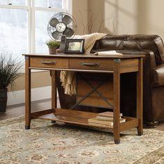Картинки по запросу sauder carson forge sofa table, washington cherry finish