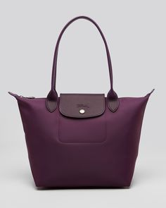 Longchamp Tote - Planetes Medium - I'll take it in both plum and black, please and thank you!
