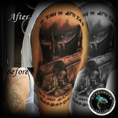 I am a warrior, and it is the way of the warrior to fight superior odds. O Tattoo, Cover Tattoo, I Am A Warrior, Tattoo Studio, Cool Tattoos, Portrait, Headshot Photography, Coolest Tattoo, Portrait Paintings