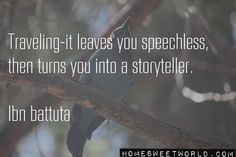 #Travel @homesweetworld We are all travel storytellers. Send us all your #Travelcasts
