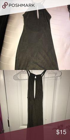 MINI DRESS- OLIVE Mini clubbing dress with cutout front. NEVER WORN- BRAND NEW!! Size M Windsor Dresses Mini