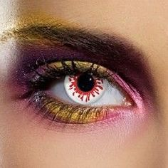 Red Blood Splat Halloween Coloured Contact Lenses (90 Day)