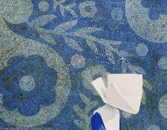 Robert Vickrey  Flower Wall. 20th Century    Mattatuck Museum