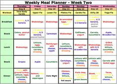 21 Day Fix Meal Plan - Week Two