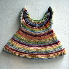 Free doll dress pattern. Can be made for teddy bears. Stripe_dress_small2
