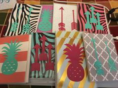 Photo album holds 24 photos picture album picture holder photo holder $5 pineapple arrow coral mint green hot pink