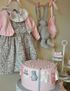 grey and pink party
