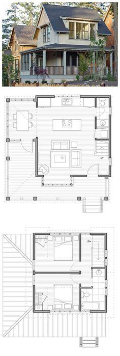 Plan #479-10 | 950 SF | 2 Bed | 1.2 Bath | 2 Story | 0 Car