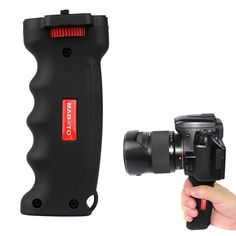 Wide Platform Pistol Grip Camera Handle with 1/4 Screw for SLR DSLR DC Canon Nikon Sony Tripod